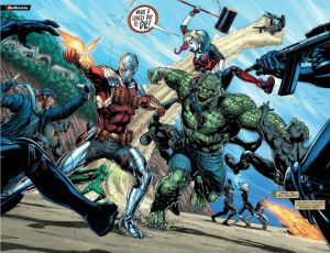 Justice League vs. Suicide Squad #1, Jason Fabok, two-page spread