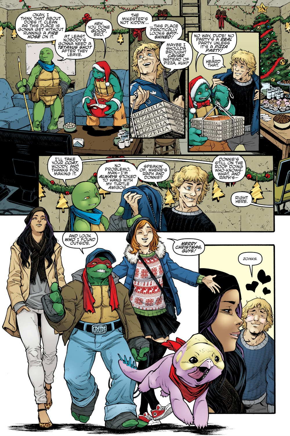 A teenage mutant ninja turtles 65 review sewer christmas party tmnt 65 pepperoni sciox Image collections