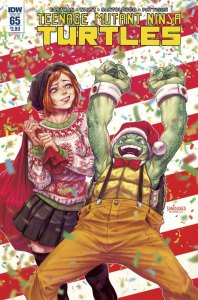 Teenage Mutant Ninja Turtles #65, 2016, cover, Christmas