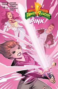 MMPR: Pink #6, Daniele Di Nicuolo, cover