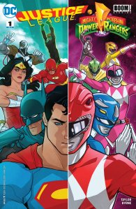 Justice League/Mighty Morphin Power Rangers #1, cover