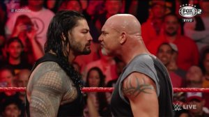 Roman Reigns, Goldberg, WWE Raw, January 2, 2017
