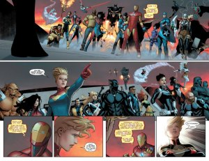 civil-war-ii #4, two-page spread