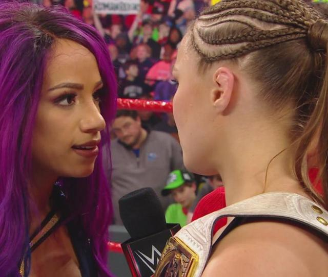 They Did Pretty Well With The Post Match Verbage Sasha Managed Not To Come Off Like An Obnoxious Brat Which Is Always A Plus Expectations Are High For