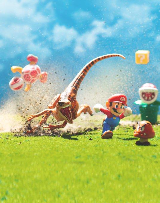 Super Mario, Velociraptor, Jason B. Michael