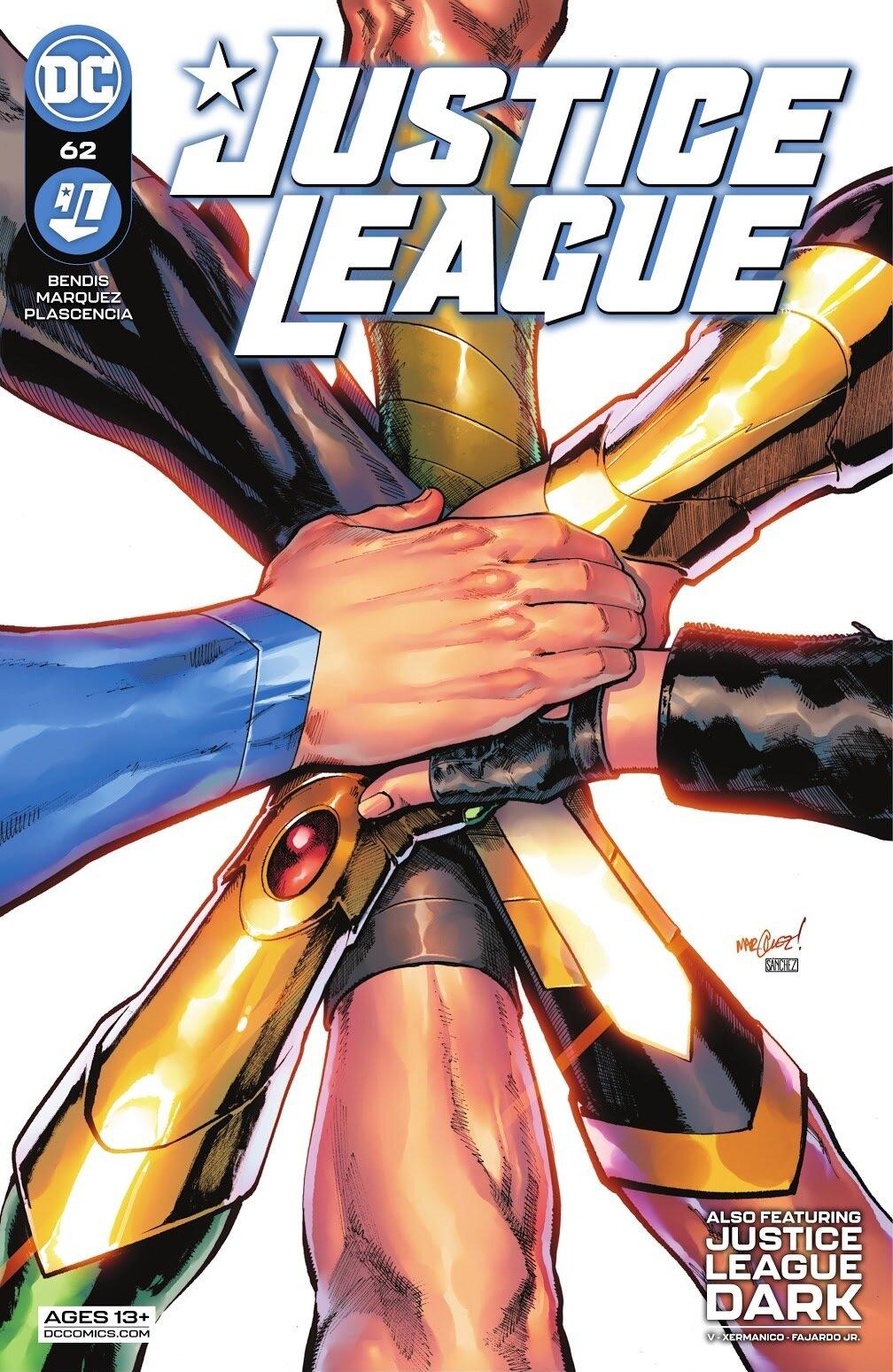 Justice League 62, cover, 2021, David Marquez