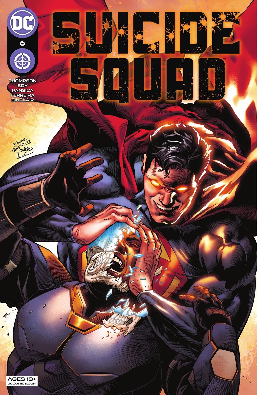 Suicide Squad 6, cover, 2021, Eduardo Pansica, Julio Ferreira