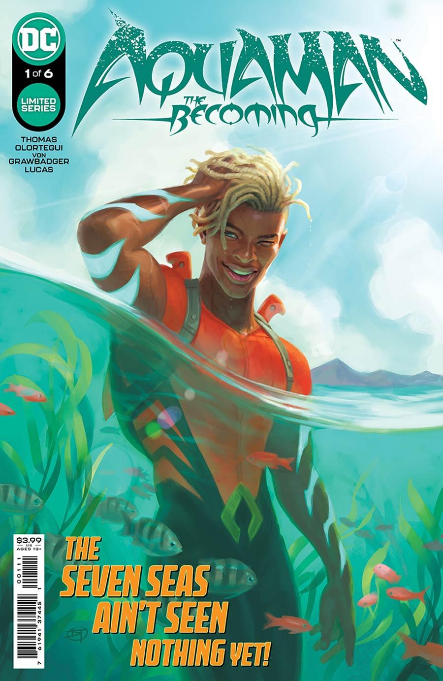 Aquaman the Becoming 1, cover, 2021, David Talaski